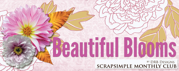 Scrap Girls Digital Scrapbooking April 2015 ScrapSimple Club Contents