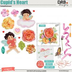 Cupid's Heart Embellishment by DRB Designs | Scrapgirls.com