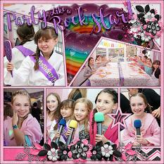 """""""Party Like a Rock Star"""" digital scrapbook layout by Laura Louie"""