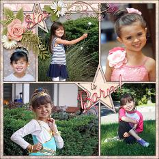 """""""A Star is Born"""" Digital scrapbook layout by Laura Louie"""