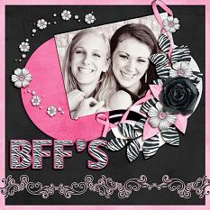 """BFF's"" digital scrapbook layout by Laura Louie"