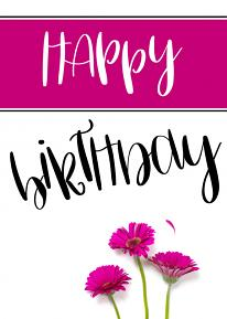 Card using Happy Dance Hand-Lettered Alpha Templates
