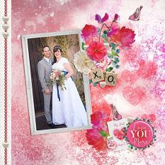 """""""Love You More"""" digital scrapbook layout by Andrea Hutton"""