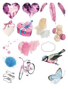 Valentine Collection Sheet 3 by Aftermidnight Design