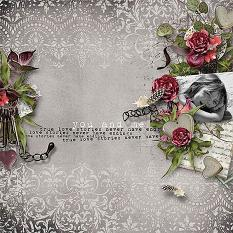 layout using Romantic Embellishment Mini: Cluster pack 2 by florju designs