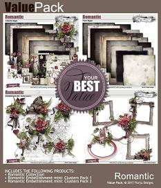 layout using Romantic Embellishment Mini: Cluster pack 1 by florju designs