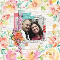 """Happy Together"" digital scrapbook layout by Shauna Trueblood"