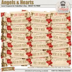 Angels And Hearts Love Coupons by On A Whimsical Adventure