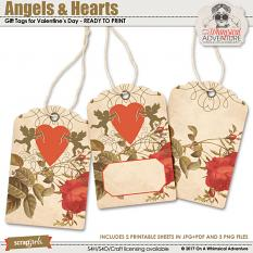 Angels And Hearts Tags by On A Whimsical Adventure