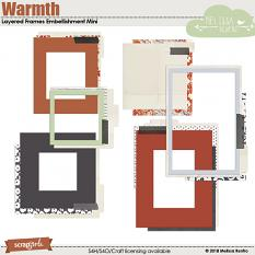 Warmth Layered Frames Embellishment Mini