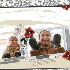 First Snow layout by Melissa Renfro