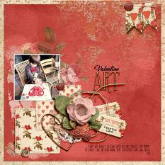 Digital layout using Value Pack: Angels And Hearts by On A Whimsical Adventure
