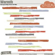 Warmth Stamped Strips Word Art Mini