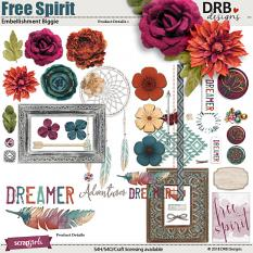 Free Spirit Embellishment Biggie by DRB Designs | ScrapGirls.com