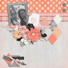 Layout by Penny using King Of My Heart - Cardstock