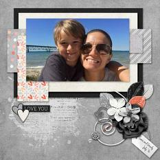 Layout by Kathryn using King Of My Heart - Photo Masks
