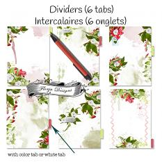 layout using  Planner 2018 A5 Delicious Day: Dividers by florju designs