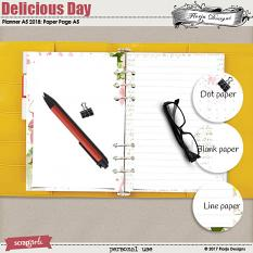 Planner 2018 A5 Delicious Day: Pages by florju designs