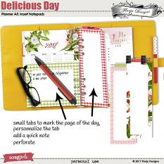 Planner 2018 A5 Delicious Day: Notepads by florju designs