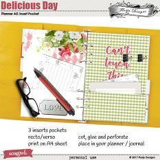 Planner 2018 A5 Delicious Day: Insert Pocket by florju designs