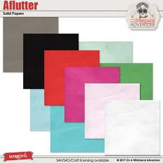 Aflutter Solid Papers by On A Whimsical Adventure