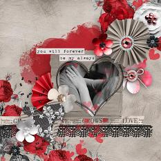 """Forever My Always"" Valentines #scrapbooking layout idea by AFT Designs - Amanda Fraijo-Tobin \ #scrapgirls #scrapbooking #digitalart"
