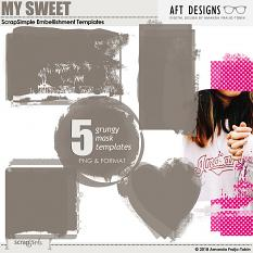 ScrapSimple Embellishment Templates: Photo Masks - My Sweet by AFT Designs - Amanda Fraijo-Tobin @ScrapGirls.com | #aftdesigns #scrapgirls #digiscrap