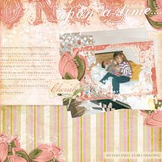 "Digital Scrapbooking Layout ""Once Upon A Time"" by Amanda S (see supply list with links below)"