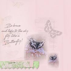 Layout by Marie Hoorne using Butterflies Collection Mini by Aftermidnight Design