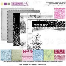 Sold Separately ScrapSimple Paper Templates: Florid Overlays (link to product below)