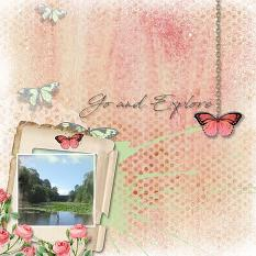 Layout by Marie Hoorne using Butterflies Paper Mini by Aftermidnight Design