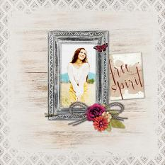 """Free Spirit"" digital scrapbook layout by Geraldine Touitou"