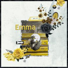 """Emma"" digital scrapbook layout by Darryl Beers"