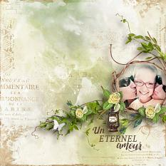 layout using Spring Papers Biggie by florju designs