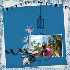 """I Love Your Smile"" digital scrapbook layout by Debby Leonard"