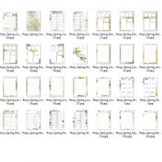 Spring: Planner A5 February by florju designs