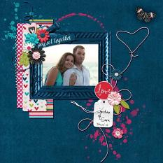 layout by Kathryn using Unforgettable - Frilly Frames
