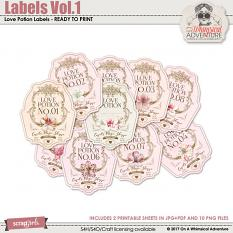Labels Vol1 Love Potion by On A Whimsical Adventure