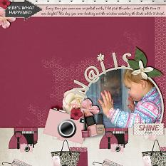 """""""Nails"""" digital scrapbooking layout using It's A Girl Thing Collection Biggie"""