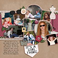 """""""Diva"""" digital scrapbooking layout using It's A Girl Thing Collection Biggie"""