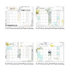 suggestion of presentation Spring: Planner Month 2 pages A5 by Florju Designs