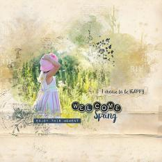 layout using Spring Embellishment Mini: Accent by florju designs