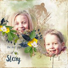 layout using Spring Word Art and Word Tags by florju designs