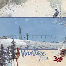 Layout by Marie Hoorne using Winterland Memories Collection and Winterland Memories solid Papers  by Aftermidnight Design