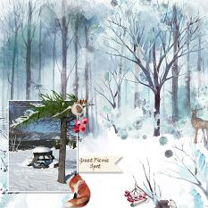 Layout by Marie Hoorne using Winterland Memories Collection by Aftermidnight Design
