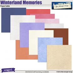 Winterland Memories Solid Papers by Aftermidnight Design