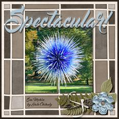 """Spectacular"" digital scrapbook layout by Laura Louie"