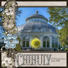 Chihuly digital scrapbook layout by Laura Louie