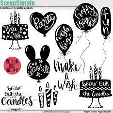 Celebrate Embellishment Templates