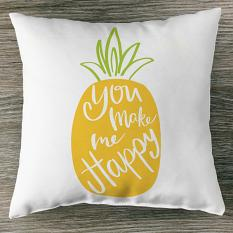 Pillow made using Solid Sentiments embellishment templates